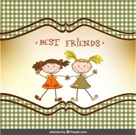 greeting cards for friends best friend greeting card vector free