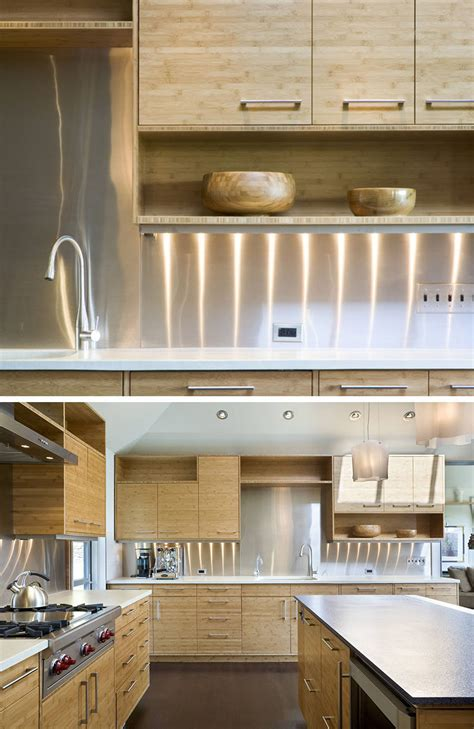 kitchen design idea install a stainless steel backsplash kitchen design idea install a stainless steel backsplash
