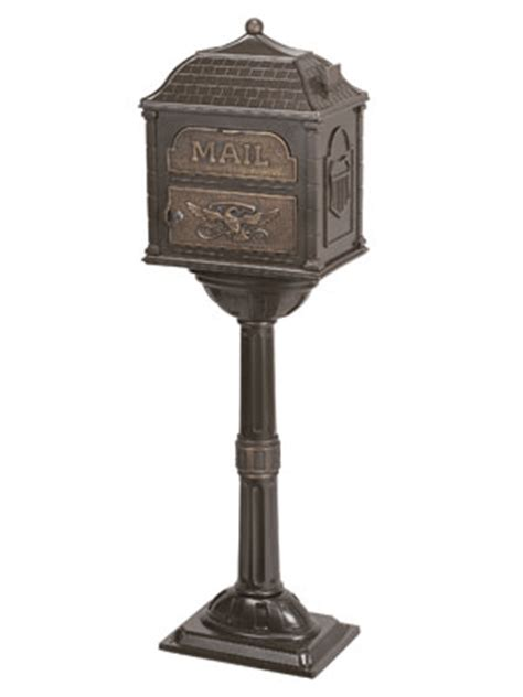 Antique Pedestal Mailbox gaines mailboxes classic pedestal mailbox package bronze
