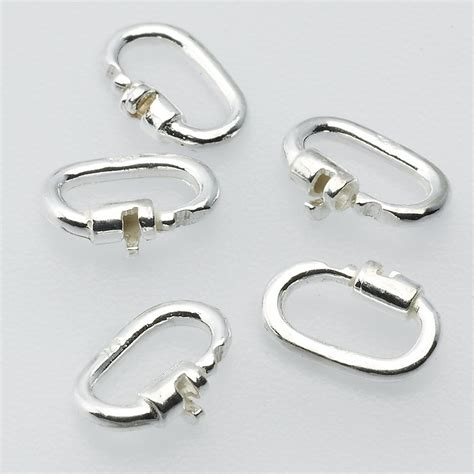 jump rings for jewelry sterling silver 4 6 x 1 8mm link lock jump ring