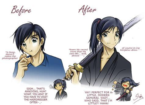 Anime Samurai Hairstyles | new hairstyle by samurai akita on deviantart