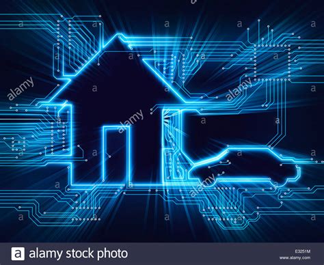 connected house and electric car future home automation