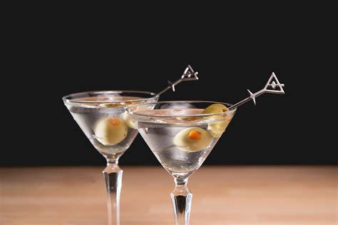 gin martini stirred dry up serving a classic gin martini behind