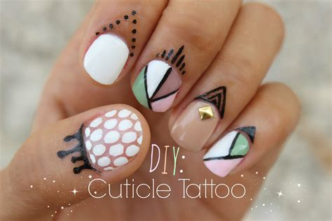 cuticle tattoo diy make your own cuticle