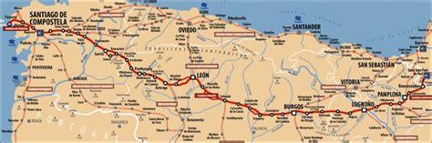 camino way map camino frances map along the way