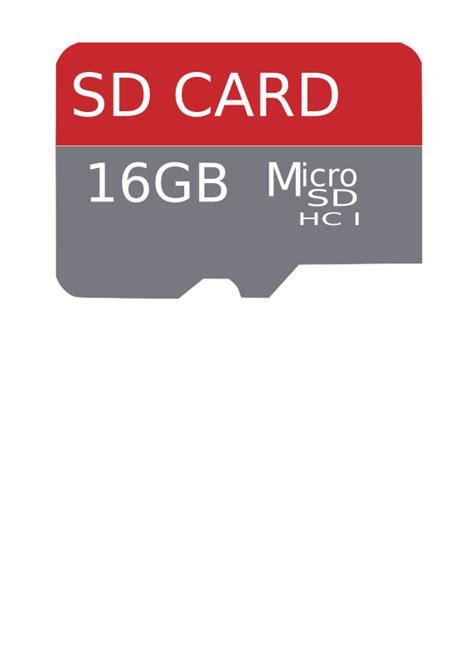 Micro Sd 16gb Semarang clipart 16gb microsd card