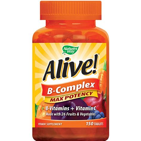 Vitamin Max C 500 alive b complex b vitamins vitamin c max potency supplement tablets 150 count vitamins