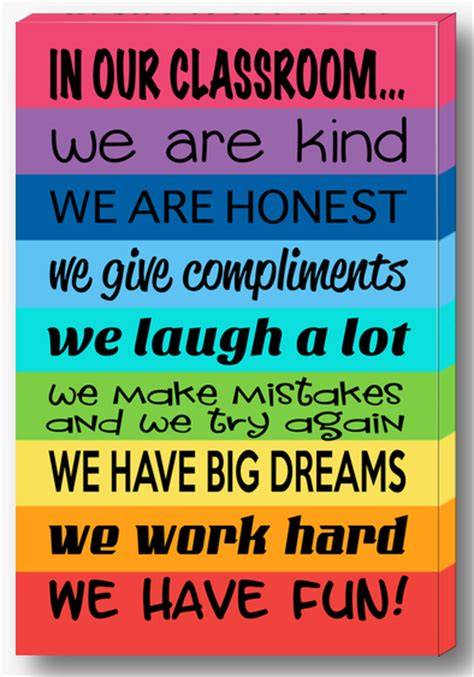 classroom layout rules classroom rules canvas rainbow design