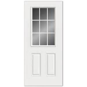 Lowes Exterior Entry Doors Reliabilt 9 Lite Grills Between Glass Steel Entry Door Lowe S Canada