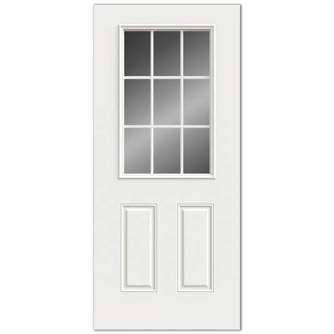 Reliabilt 9 Lite Grills Between Glass Steel Entry Door 9 Lite Exterior Door