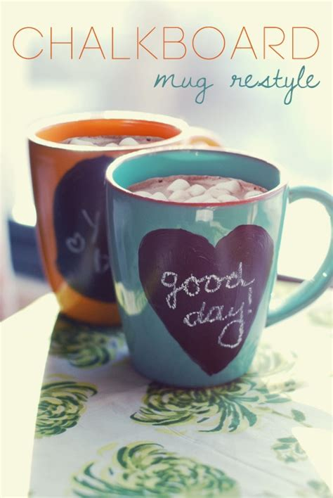 chalkboard paint mugs chalkboard mugs ideas chalkboards