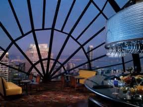 san francisco marriott marquis view lounge east dusk flickr