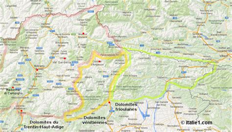 carte sella les dolomites italie1