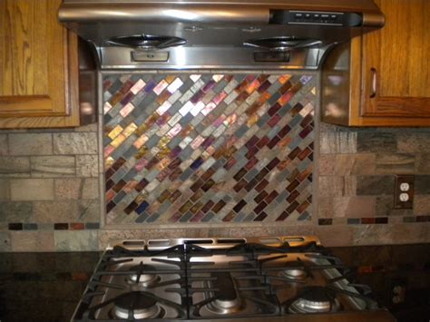 Kitchen With Mosaic Backsplash Mosaic Tile Backsplash Kitchen Cleveland By