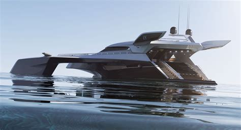 trimaran yacht design trimaran projekt motorowego jachtu czyżewski design