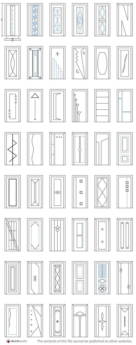 archweb dwg porte dwg door models