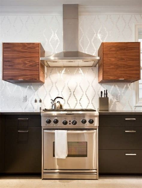 creative silver color scheme vinyl wallpaper kitchen