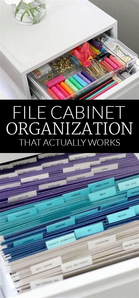 how to organize file cabinet file cabinet organization organizing in style