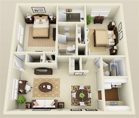 tiny home design two bedroom apartment layout google search houses