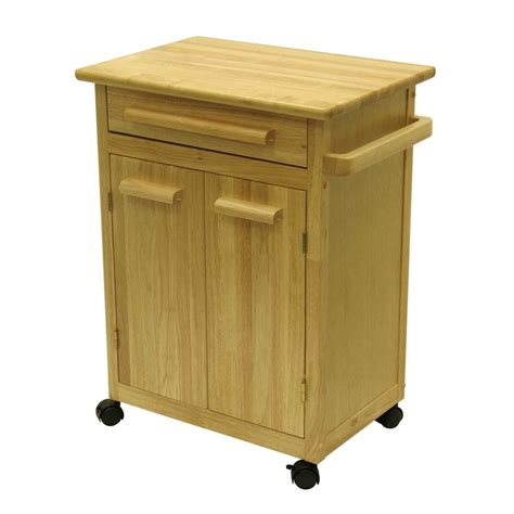 kitchen island lowes shop winsome wood 27 in l x 18 25 in w x 34 5 in h kitchen island with casters at lowes