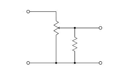 fixed value resistor function logpot