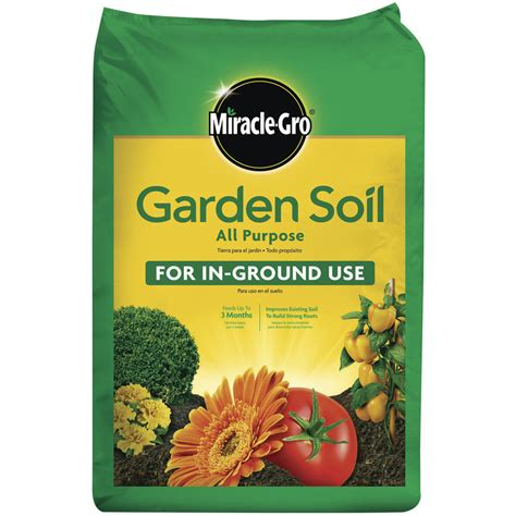 shop miracle gro 0 75 cu ft all purpose soil at lowes