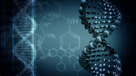 dark blue background with rotating dna loop stock footage
