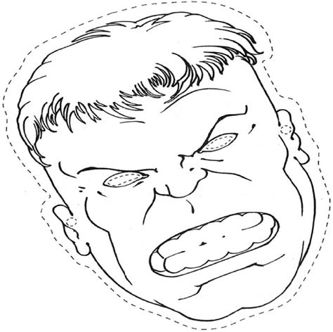 hulk mask coloring page mask 98 objects printable coloring pages