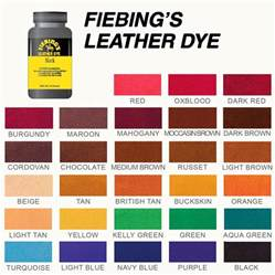 leather dye colors fiebings leather dye colour chart hairs model