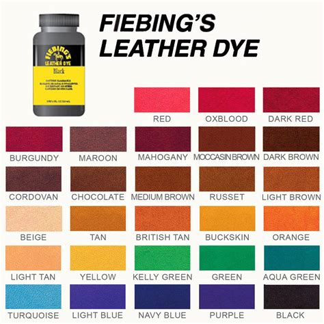 leather color fiebing s leather dye the world s best smooth leather dye