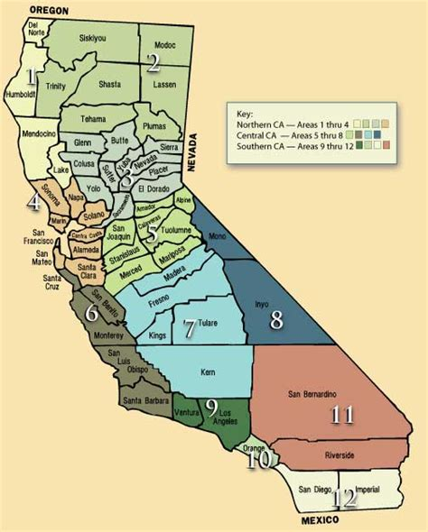 california map counties and cities obryadii00 maps of california cities