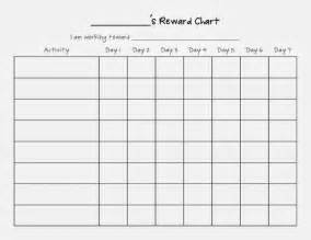 Template For Reward Chart by Weekly Reward Chart Blank Template For Children Helloalive