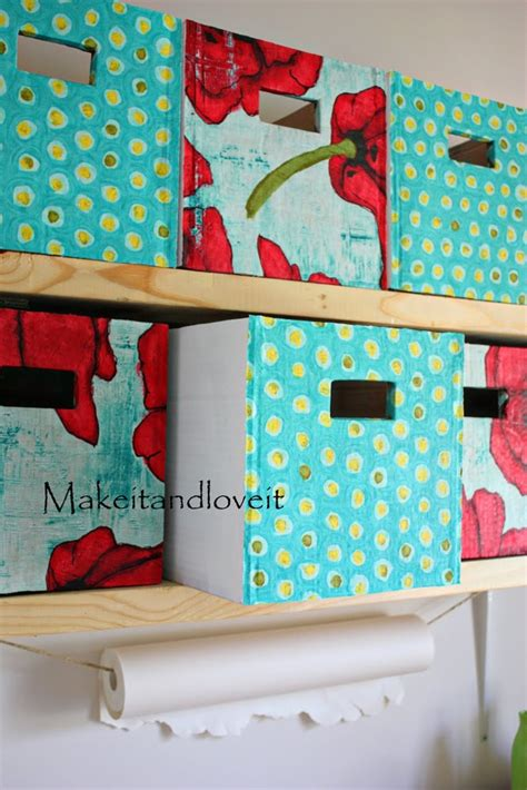 diy storage boxes craft room part 1 covered cardboard storage boxes