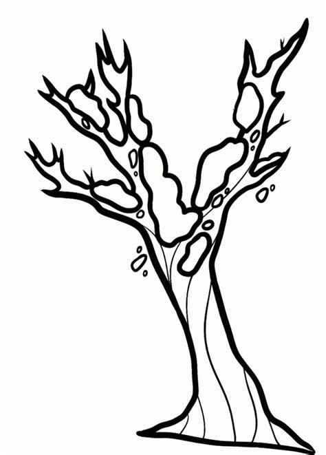 coloring page bare tree bare tree coloring page coloring home