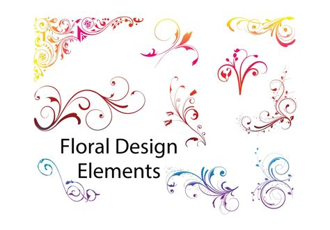 flower design element vector illustration free vector floral design elements download free vector art stock