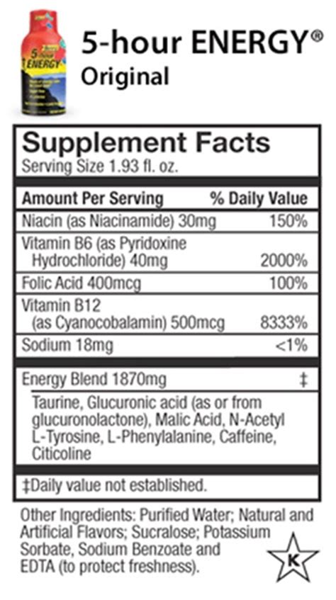 energy drink information the gallery for gt energy drink nutrition facts