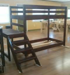 custom loft or bunk bed with stairs by wholly craft inc custommade com