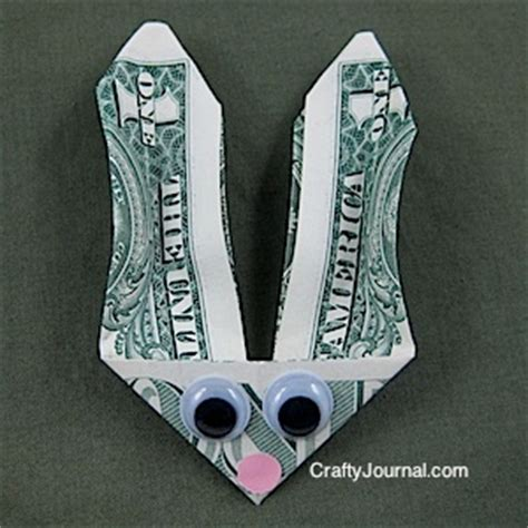 Easter Money Origami - bunny money