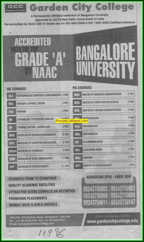 Garden City College Mba Placements by Garden City College Bengaluru Bangalore Karnataka