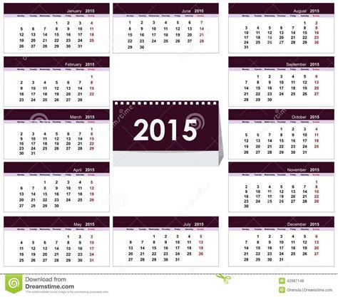 desk calendar 2015 template stock vector image 42987148