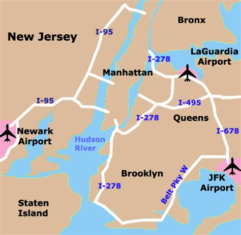 map airports nyc airport map walks of new york