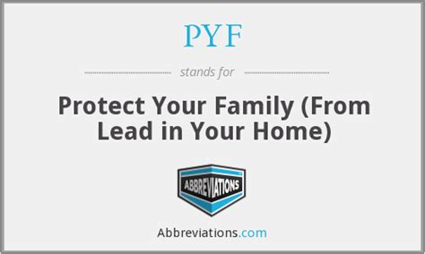 pyf protect your family from lead in your home