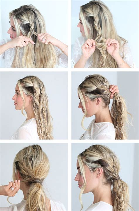 casual hairstyles with steps messy ponytail tutorial image 3047145 by loren on