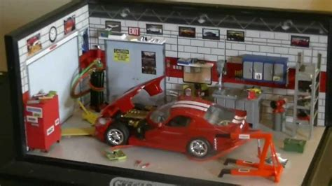 werkstatt diorama dodge viper 1 43 scale custom garage diorama from garage