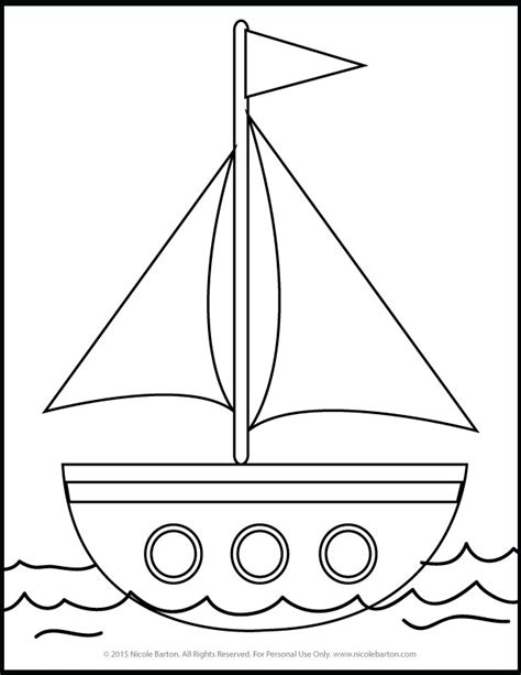 free sailboat printable coloring pages for kids free