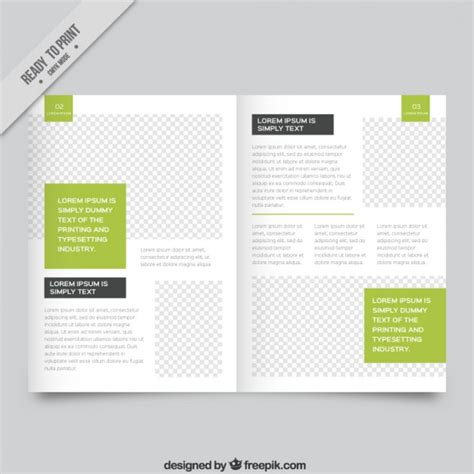 magazine layout vector free download white magazine template with green parts vector free