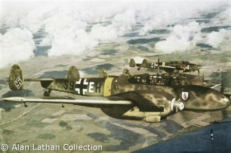 the luftwaffe in colour luftwaffe in ww ii in colour the other version bf 110 e 2 trop s9 eh wnr 4443 skg210