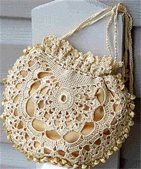 crochet lace bag pattern silk lace crochet bag pattern favecrafts com