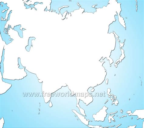 blank physical map of asia asia blank map physical