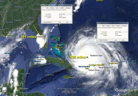 hurricane irma size hurricane irma sat measurements show it larger
